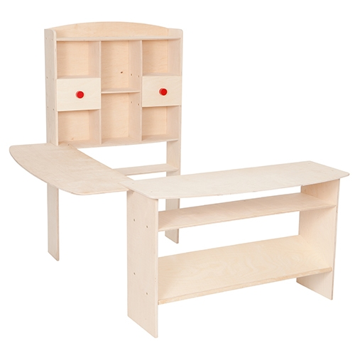 Winkel blank hout groot