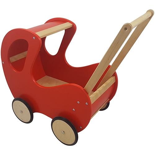 Poppenwagen rood klassiek; exclusief dekje