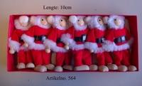 Buigpop set kerstman; 6-delig