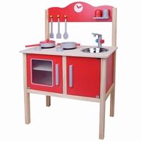Keuken blank / rood; Bladh: 50 CM