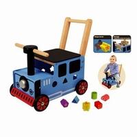 Loopwagen trein blauw; I'm Toy 87571