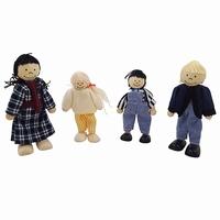 Buigpop set familie Mulder; 4-delig