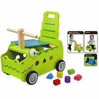 Loopwagen krokodil; I'm Toy 87630