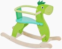 Hobbeldier draak groen; met afneembare beugel